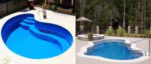 Piscinas prefabricadas en poliester piscinas de poli ster for Piscinas pequenas para casas con poco espacio