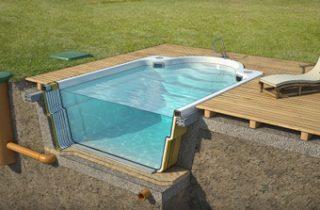 Piscinas prefabricadas en poliester piscinas for Piscinas rigidas baratas