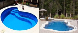 piscina de poliéster pequeñas.